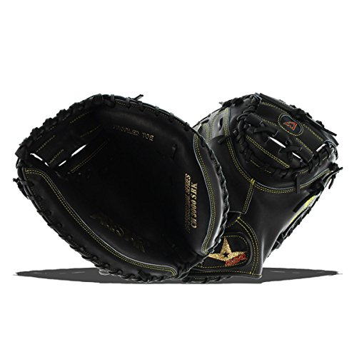 All-Star Pro Elite Catchers Baseball Gloves Closed Black 33.5 Right Hand (Catchers Mitts Star All)