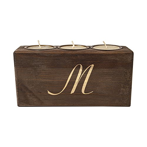 Personalized Rustic Sugar Mold Unity Candle, Letter M