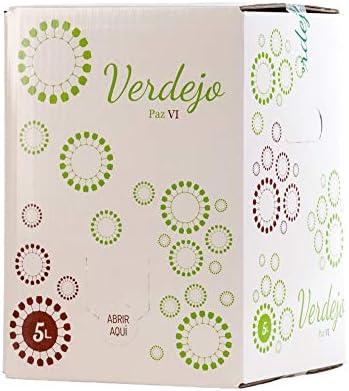 ➡️ BAG IN BOX VINO BLANCO VERDEJO 5 LITROS: Bag in box vino blanco Verdejo con grifo para poder serv