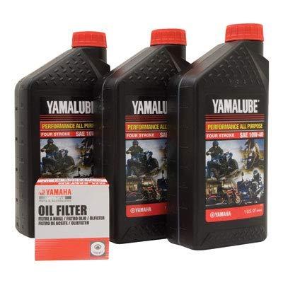 Yamalube Oil Change Kit 10W-40 - Fits: Yamaha V-Star Deluxe XVS1300 2013-2020: Automotive