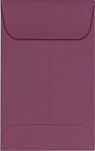 #1 Coin Envelopes (2 1/4 x 3 1/2) – Vintage Plum (500 Qty.) | Perfect for the HOLIDAYS, Weddings, Parties & Place Cards | Fits Small Parts, Stamps, Jewelry, Seeds | LUX-1CO-104-500