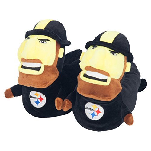 Pittsburgh Steelers Official NFL 3d Mascot Slipper - Youth (Nfl Slippers For Kids)