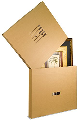 EcoBox Adjustable Picture/Mirror Box, Moving Box Set of 5 (V-9682) -