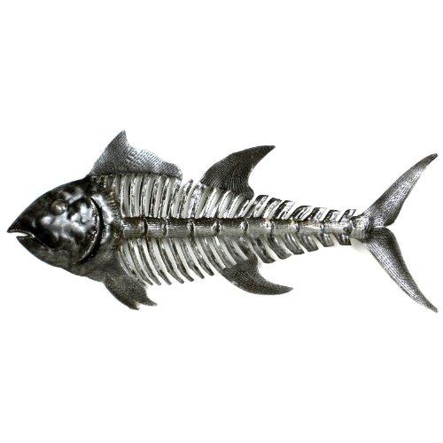 - Global Crafts Recylced Handmade Haitian Metal Wall Art: Fish Bones, 24