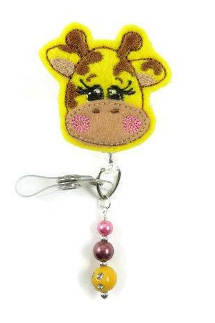 Giraffe - Nurse Badge Reel - Retractable ID Badge Holder - Nurse Badge - Badge Clip - Badge Reels - Pediatric - RN - Name Badge Holder