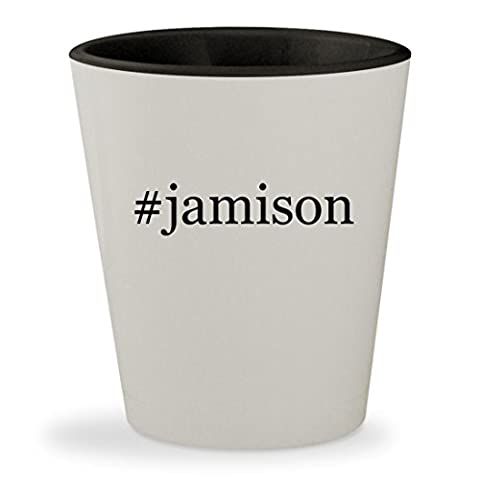 #jamison - Hashtag White Outer & Black Inner Ceramic 1.5oz Shot Glass (Dv Jamison)