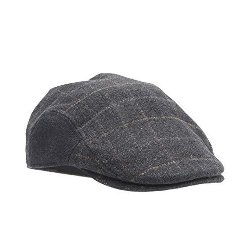 Dockers Men's Ivy Newsboy Hat, Charcoal Casual, Small/Medium