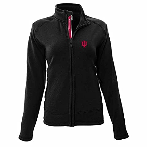 NCAA Indiana Hoosiers Adult Women Tranquil Team Script Full Zip Jacket,Medium,Black - Full Zip Hockey Hoody