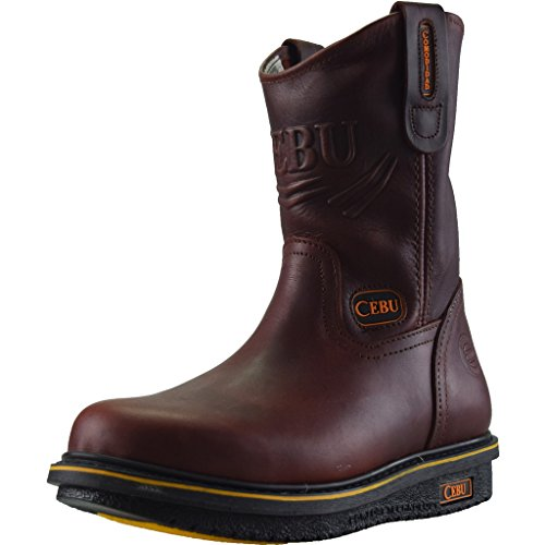 Cebu Mens Confort 10 work Boot Maroon