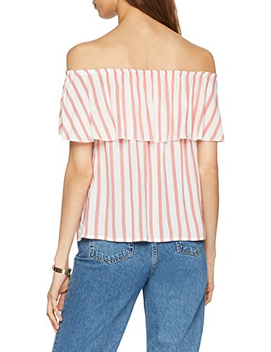 Onlcandy Multicolore Mars Top Stripes WVN Red Dancer Femme Blouse Only Offshoulder Cloud aqw7apd