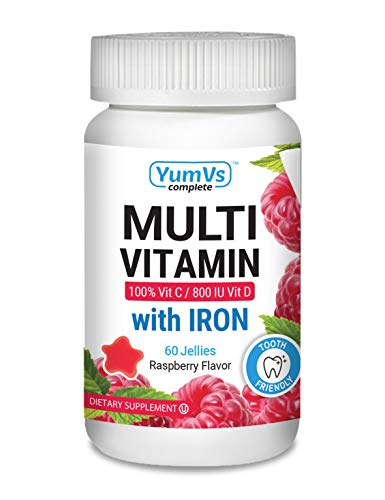 - YUM-V's Complete Multivitamin and Multimineral w/ Iron Jellies (Gummies), Berry Flavor (60 Ct); Daily Dietary Supplement for Men and Women, Vegetarian, Kosher, Halal, Gluten Free
