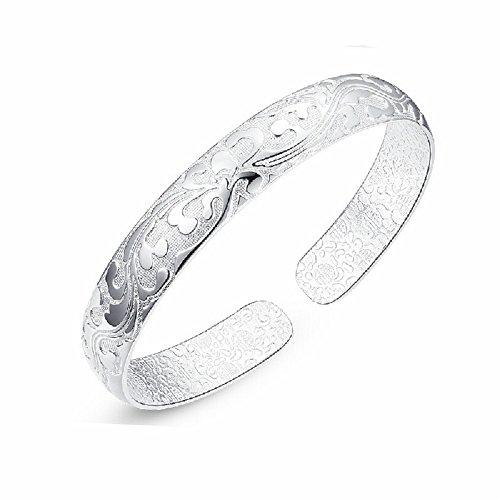 skyllc Women's Fashion Blossoming Sterling S925 Silver Bracelets
