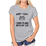 Willsa T Shirt for Women, Girl Summer Casual Crewneck Print Tops Tee Shirts Blouse Gray