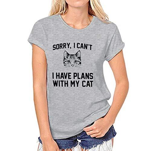 ℱLOVESOOℱ Women Girl Summer Casual Crewneck Print Tops Tee Shirts Letter 3D Printed Short Sleeve Blouse