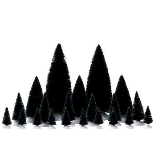 Lemax Christmas - 21 Pc Assorted Fir Trees (74691) by Lemax