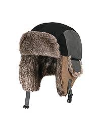 Moon Kitty Little Boys Winter Hat Kids Nylon Russian/Aviator Winter Earflap Cap