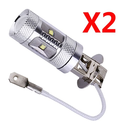 S&D 2 X H3 30W Cree XBD LED 6 Chips Auto/Car/Truck/Vehicle Driving Head Signal Turn Brake Parking Tail DRL Fog Reverse Lights Bulb Lamp light source, Pure White, 6000K, 1000-1400LM, (Voltage Air Goggles)