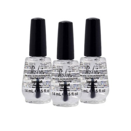 Lot 3 Poshe 0.5 OZ Super Fast Drying Top Coat Nail Polish Salon Manicure DRY
