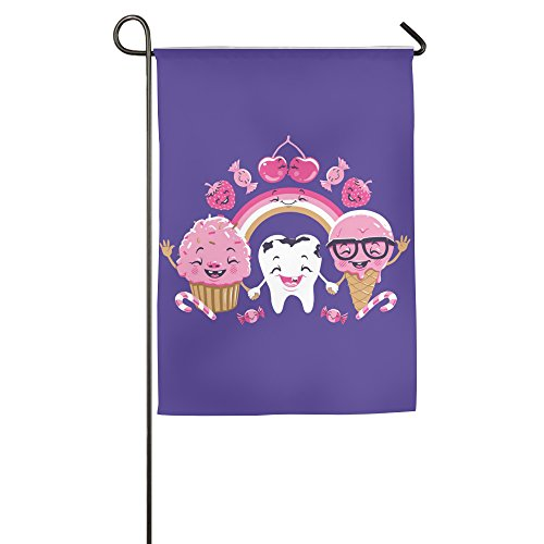 (Tooth Candy Ice Cream Home Garden Flag For House Decoration 1827inch)