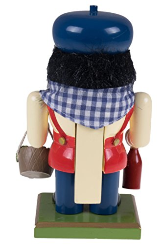 Traditional Wooden Chubby Italian Nutcracker by Clever Creations | Wine Bottle and Basket of Grapes | Festive Christmas Decor | 7'' Tall Perfect for Shelves and Tables by Clever Creations (Image #2)