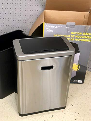 EKO - [CW2236MT-47L 47L/12.4G Fingerprint-Resistant Stainless Steel Motion Sensor Trash Can (Sensor Eco)