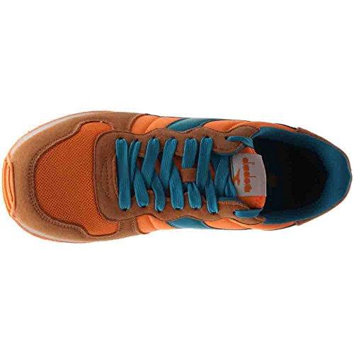 Diadora Mens Camaro Scarpa Da Corsa Blu; Arancione