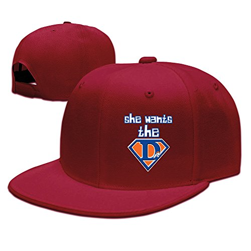 Texhood Vintage SHE WANTS DENVER Fitted Cap Red (How A To Be Quarterback)