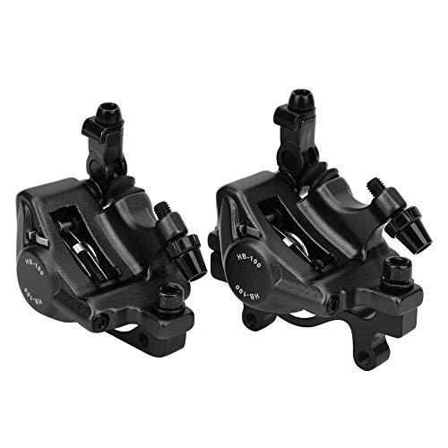 Bicycle Disc Brake Mountain Bike Hydraulic Disc Brake Rust Resistance Aluminum Alloy Lining Bicycle Gear (Black)