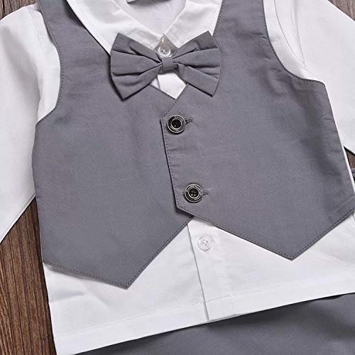 Gubabycci Infant and Toddler Baby Boy Gentleman 2pcs Long Sleeves Formal Party Wedding Suits Outfits by Gubabycci (Image #4)