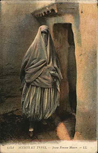 6151 Scenes et types - Jeune femme Maure - L.L. Africa Morocco Original Vintage Postcard