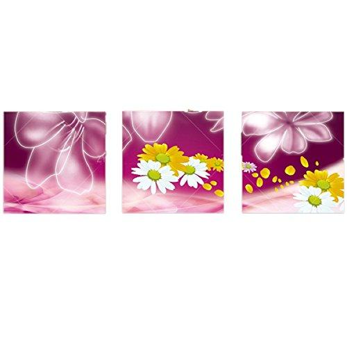 壁掛け アートパネル 【AP002 フラワー 紫花 50×50㎝×3パネルセット】厚地25㎜キャンバス 印刷布製 キャンバスアート 壁飾り B07DRCV8LT 13188 25mm厚地キャンバス|50×50㎝ 50×50㎝ 25mm厚地キャンバス