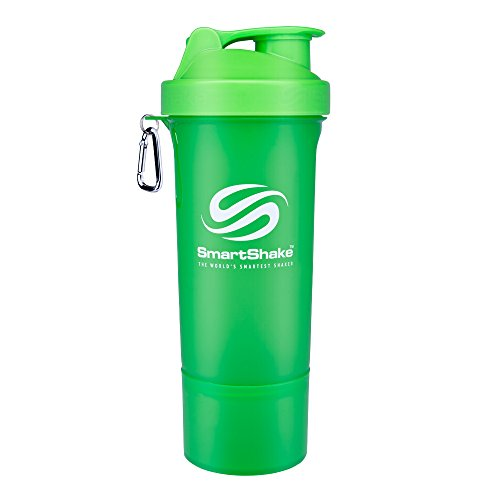 SmartShake Slim Neon Green 17oz (500ml)