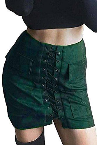 Olive Mini Skirt - 5
