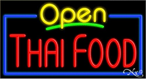 Thai Food Open Handcrafted Energy Efficient Glasstube Neon Signs by Accent Printing & Signs