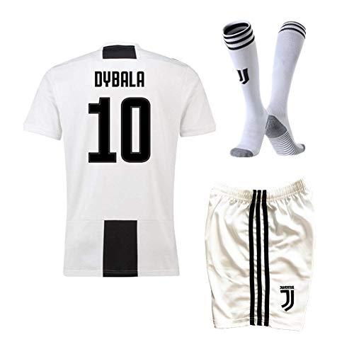 (Wjacking 18/19 Season Dybala #10 Juventus Home Kids/Youth Soccer Jersey & Shorts & Socks White (11-12Years Old))