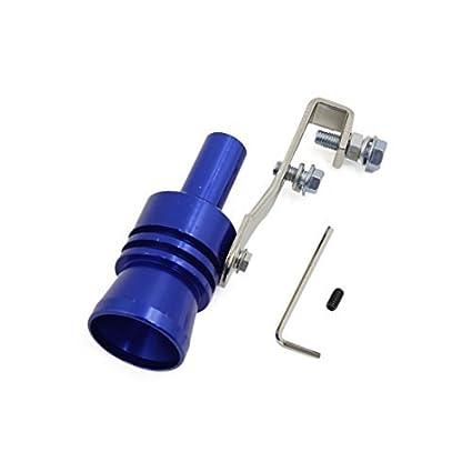 DealMux XL Tamanho azul Falso Turbo Som sopro fora da válvula Simulator Whistle para carro