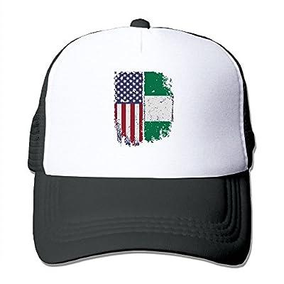 FashionMZI-id Unisex Trucker Hat Nigerian American Flag Men Women Adjustable Mesh Cap Latest Back Cap