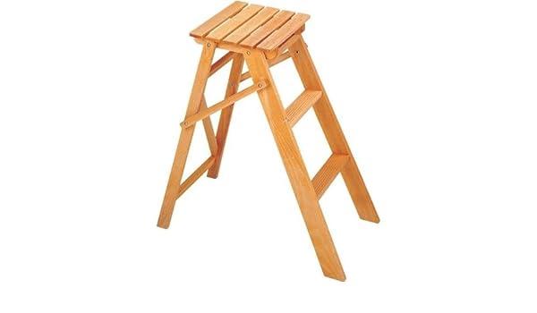Escalera de 3 Peldaños de madera plegable: Amazon.es: Bricolaje y herramientas