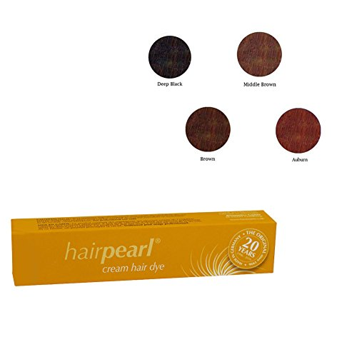 Hair Pearl Tint Set (Deep Black, Middle Brown, Brown, & Auburn) by Hairpearl