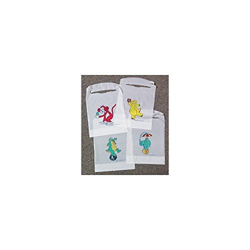 TIDI Products 339  Child/ Infant Bib, Kids Kritters, All Poly Print, 10-1/2'' x 15'' Size (Pack of 500)
