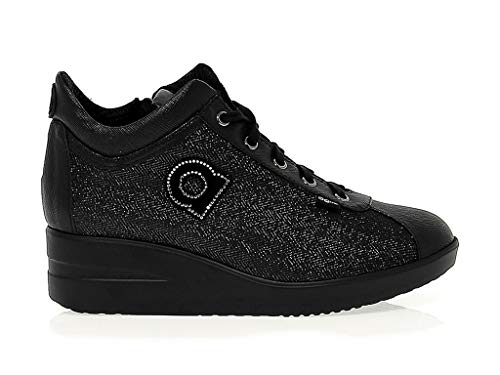 Zapatillas 82504black Mujer Negro Ruco Tela Line awXCT