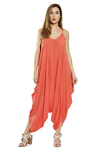 Riviera Sun 21636-CORAL-S Jumpsuit/Jumpsuits For Women (Sun Coral)