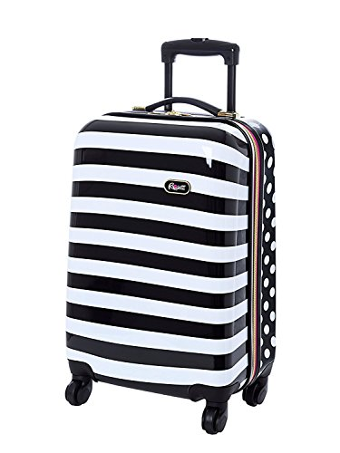 Rosetti 'Summer Breeze' 20'' Polka Dots and Stripes Spinner Suitcase by Rosetti