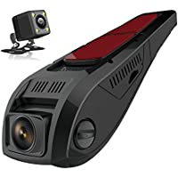 Pruveeo F5-Dual FHD 1080P Dash Cam Front and Rear Dual Camera for Cars Driving Recorder DVR