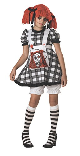 Rag Doll Costume Makeup (Tragedy Anne Costume Size: 12-14)