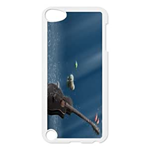 Guitar on Wood Custom made Case/Cover/skin FOR Ipod Touch 5 TPUKO-Q797576