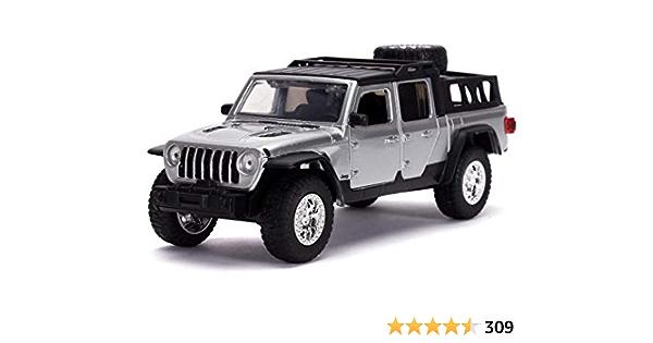 1//32 Jada Fast /& Furious Movie 2020 Jeep Gladiator Diecast Model Silver 32031