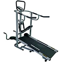 Prime fitness Imported 4 in 1 Treadmill PR 552 with Stepper Twister and Push up Heavy Duty for Home use