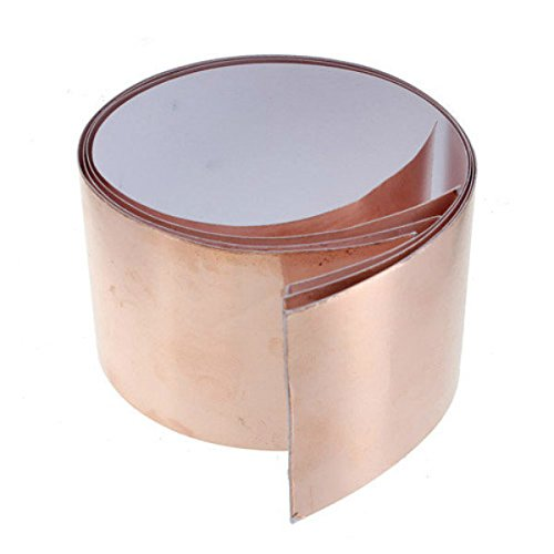 Pink Lizard Copper Foil Tape EMI Shielding for Fender Guitars 1 ft X 2 (Foil Red Guitar)