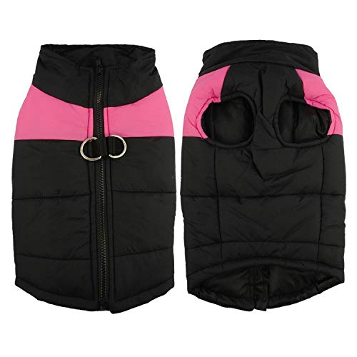 Waterproof Pet Dog Puppy Vest Chihuahua Jacket Warm Clothes Winter Dog Clothes Coat for Small Dogs Medium Large,Pink,S